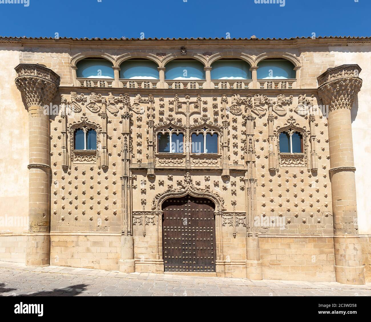 abalquinto Palace in Baeza. Renaissance city in the province of Jaen. World heritage site. Andalusia, Spain. Now is International Universit Stock Photo
