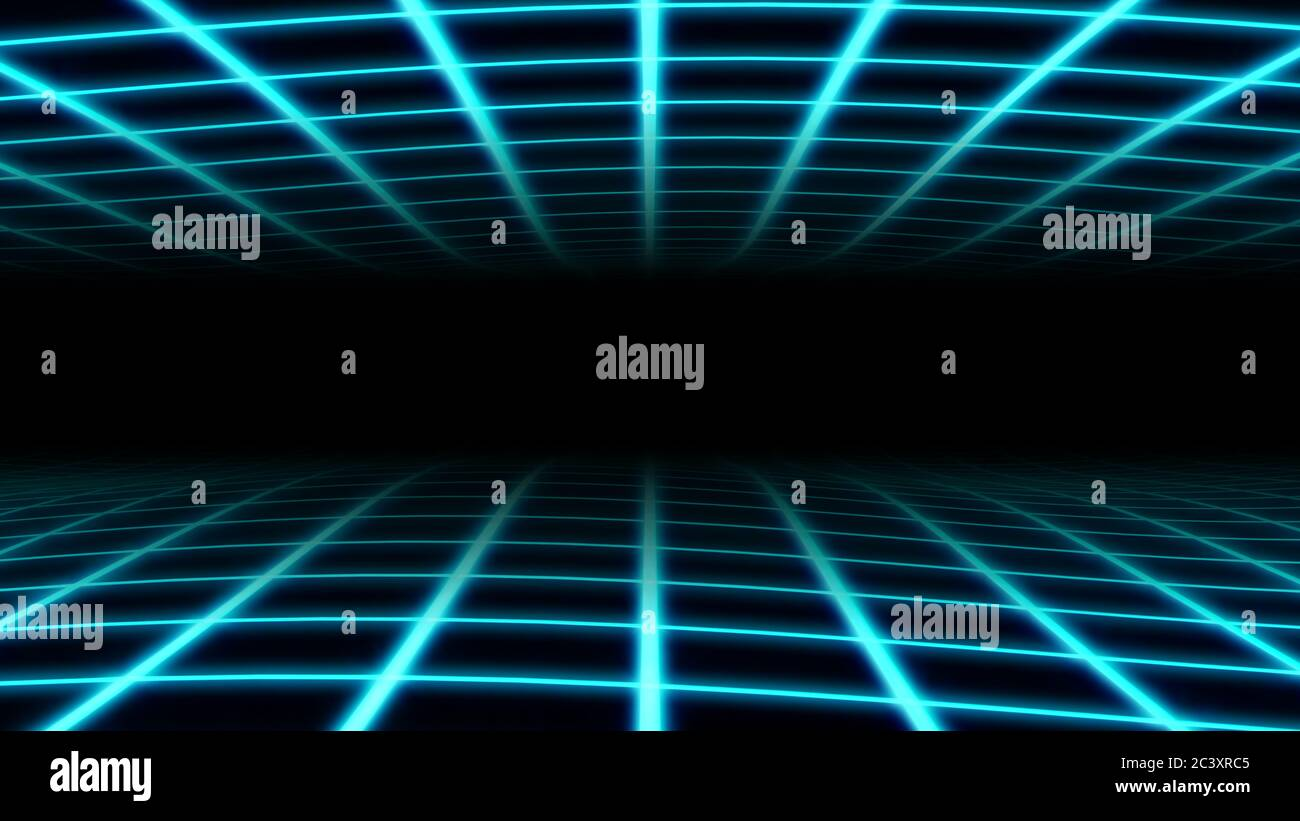 Retro Wavy Grid 80s Synthwave Neon Net Waves In Aesthetic Vaporwave Abstract Background Texture Stock Photo Alamy
