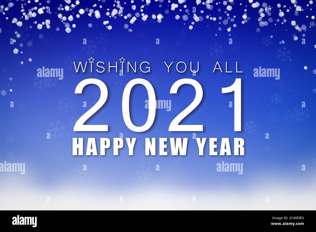 happy new year 2021 high resolution stock photography and images alamy https www alamy com happy new year 2021 blue greeting card with snow design image363887191 html