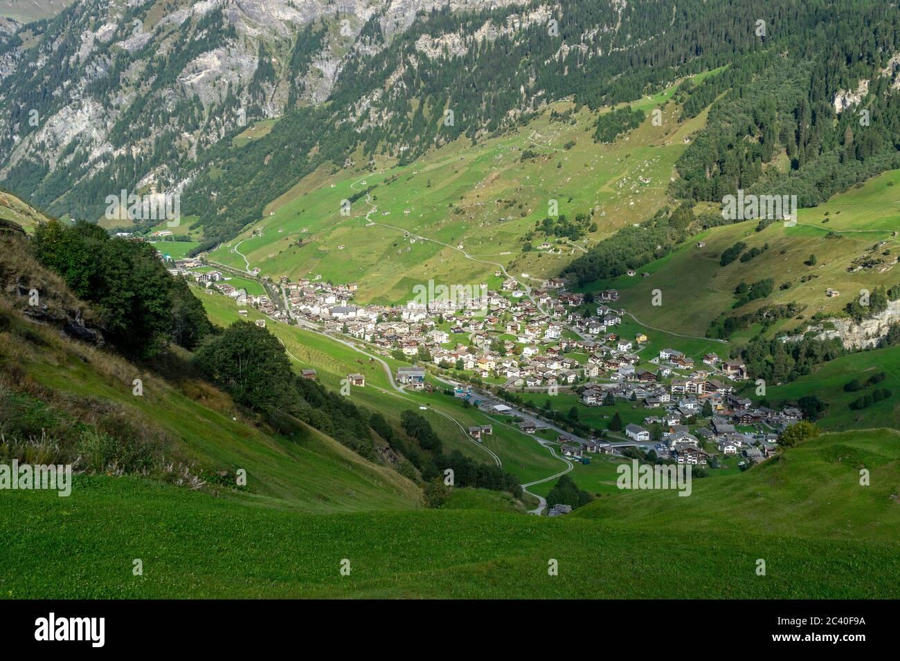 Das Dorf Vals im Valser Tal, Graubünden Stock Photo