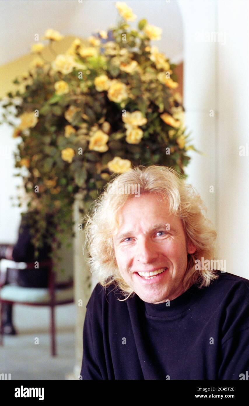Thomas Gottschalk - TV presenter - mirror interview in the Bayerischer Hof - Munich - Bavaria - Germany Stock Photo