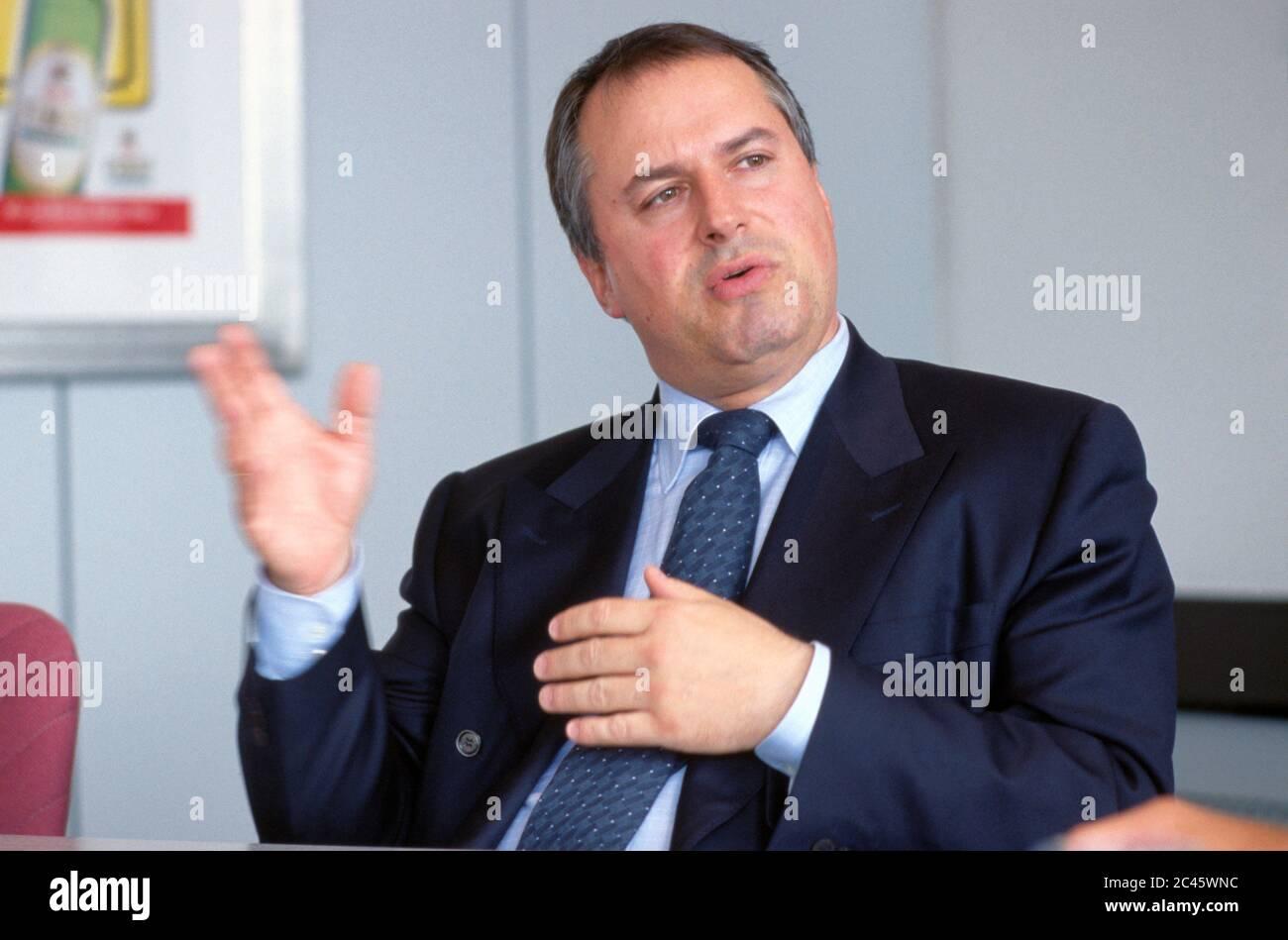 Michael Hollmann - CEO of Brau & Brunnen Stock Photo