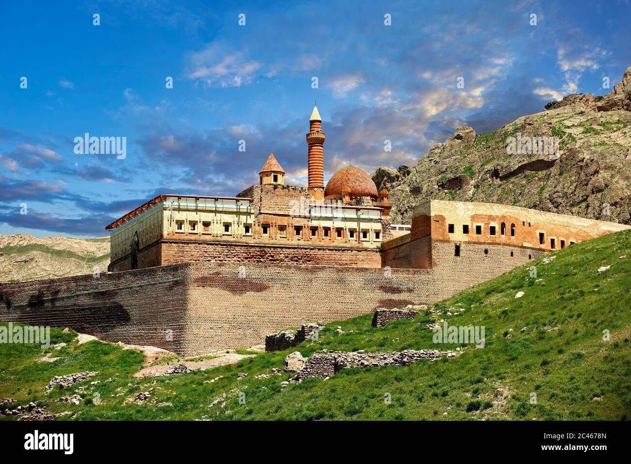 18th Century Ottoman architecture of the Ishak Pasha Palace (Turkish: İshak Paşa Sarayı) ,  Ağrı province of eastern Turkey. Stock Photo