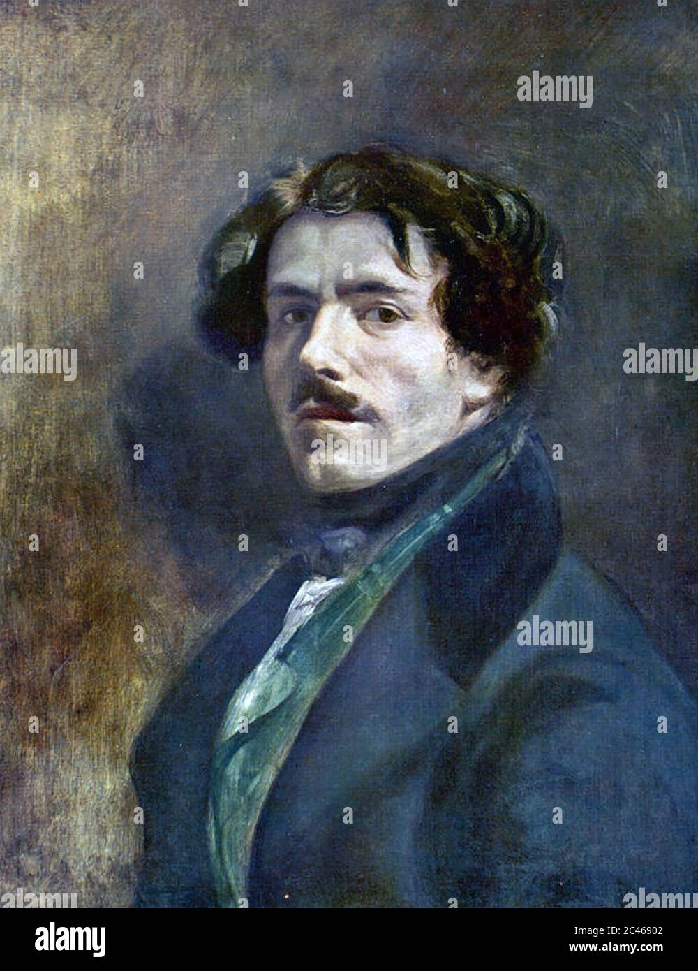 FERDINAND EUGÈNE DELACROIX (1798-1863) French Romantic artist Stock Photo