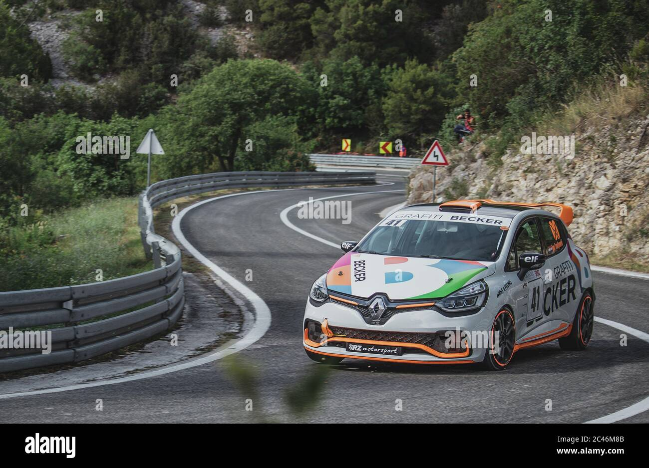 Skradin Croatia June 2020 Renault Clio Sport With Lively Colors Seen Going Through A Corner At High Speed Stock Photo Alamy