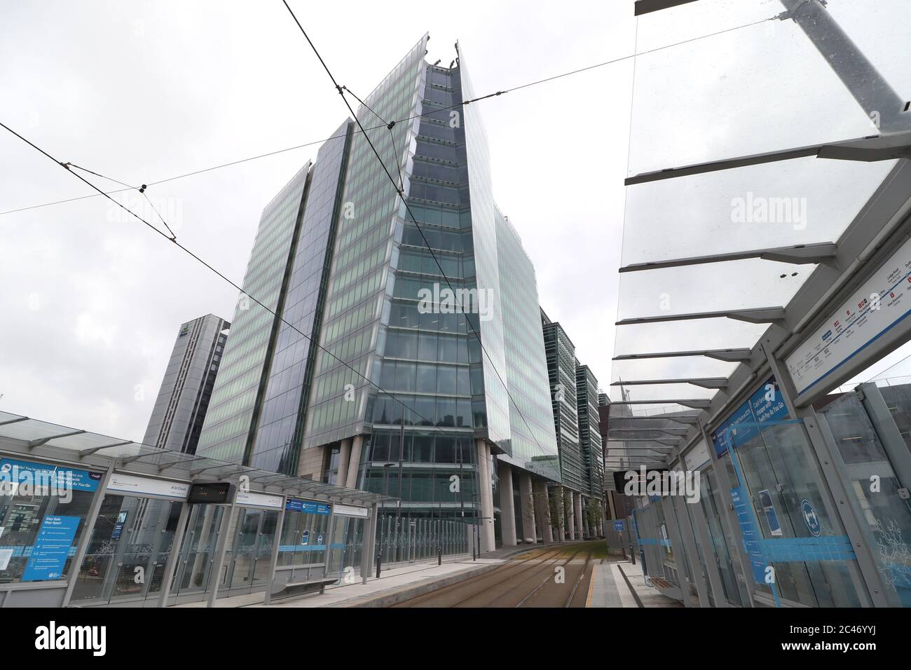 Number Three Snowhill completes the final phase of the development leading down to St Chads Circus. Number Three building as viewed from the new St Chads Metro Station. Stock Photo
