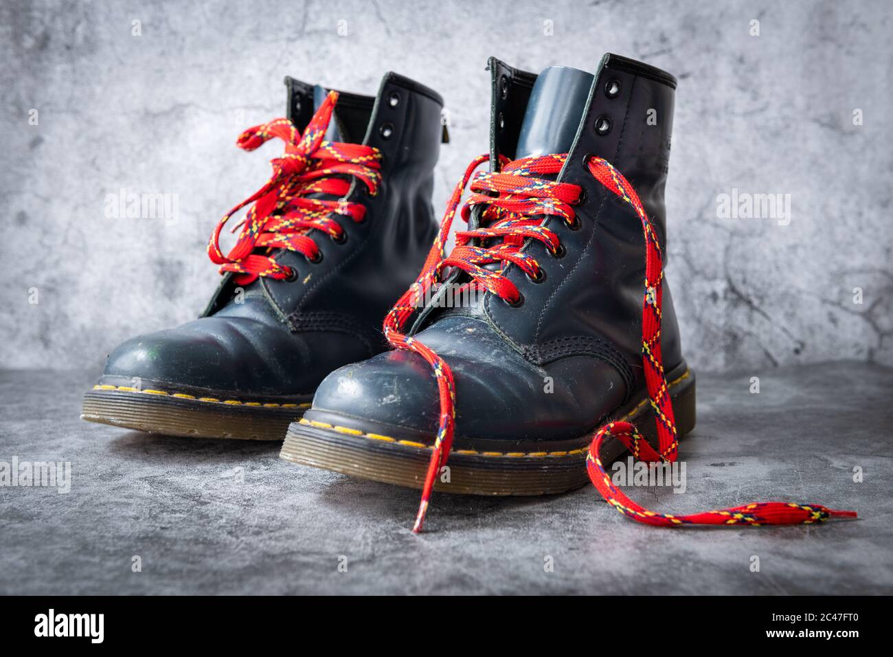 Red Shoe Laces High Resolution Stock