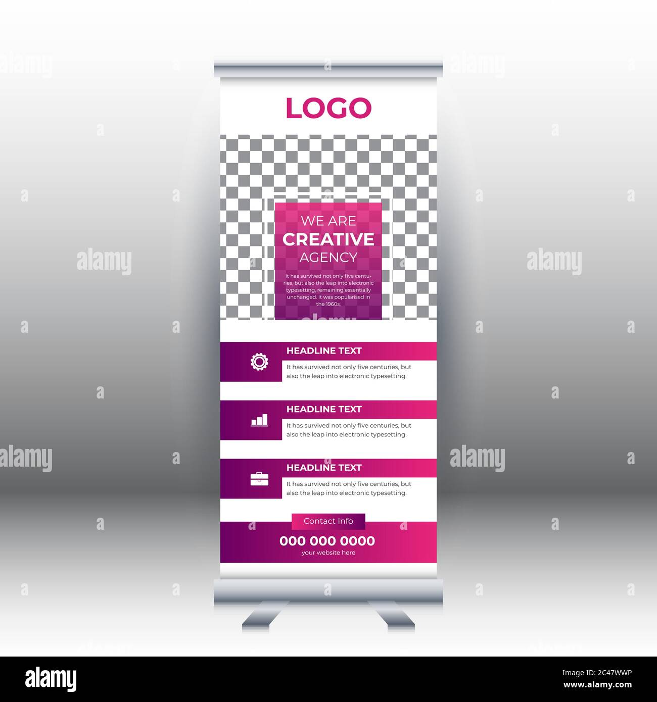 Creative Abstract Modern Corporate Business Vertical Roll Up Banner Design Template Vector Illustration Concept Exhibition Advertising Presentation Stock Vector Image Art Alamy