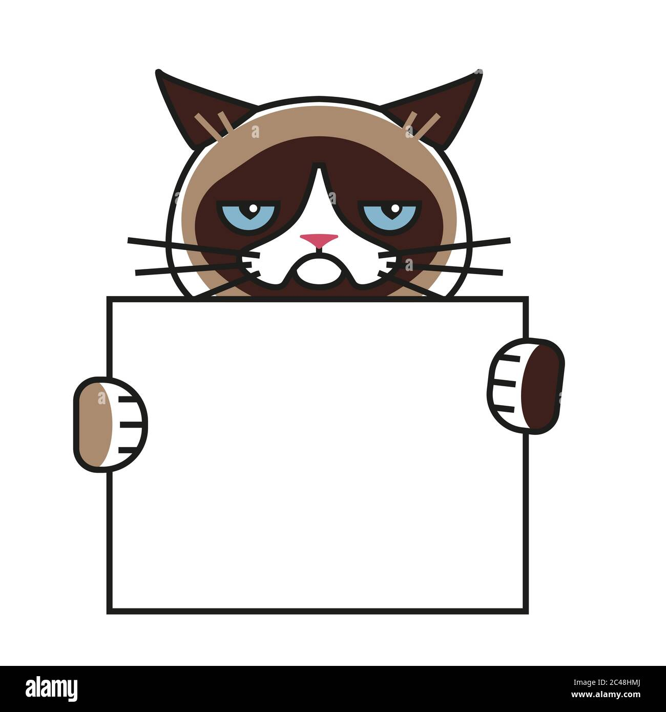 Cartoon Angry Cat High Resolution Stock Photography And Images Alamy
