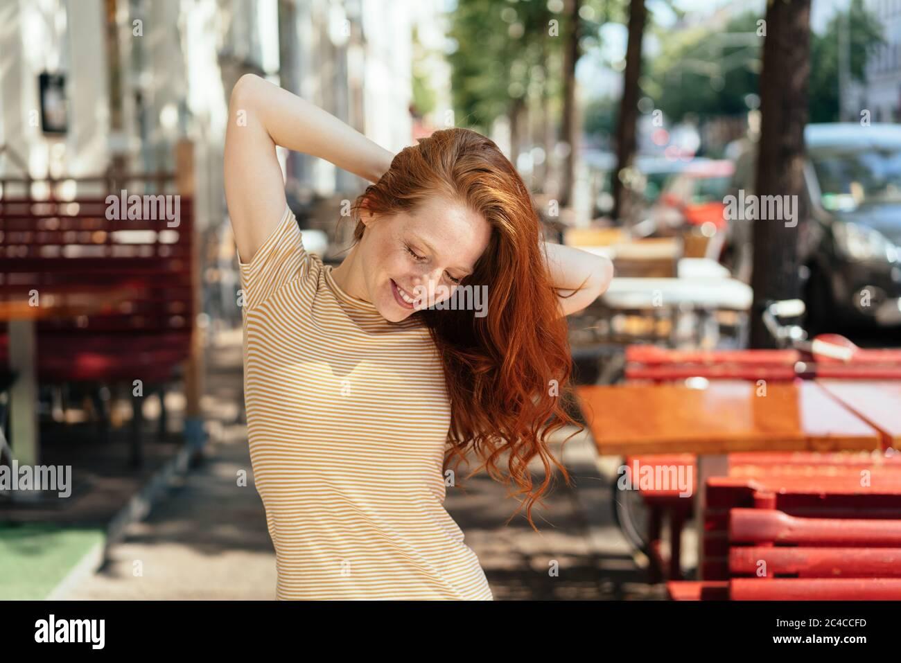 hot slender woman in olomouc