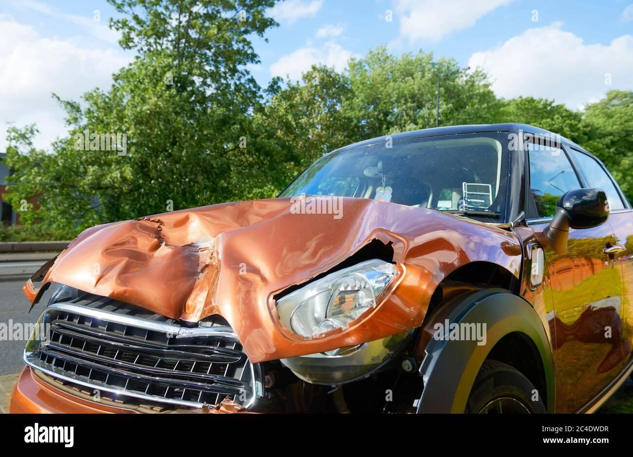 Car Crash Hit and Run Drunk Driving Stock Photo