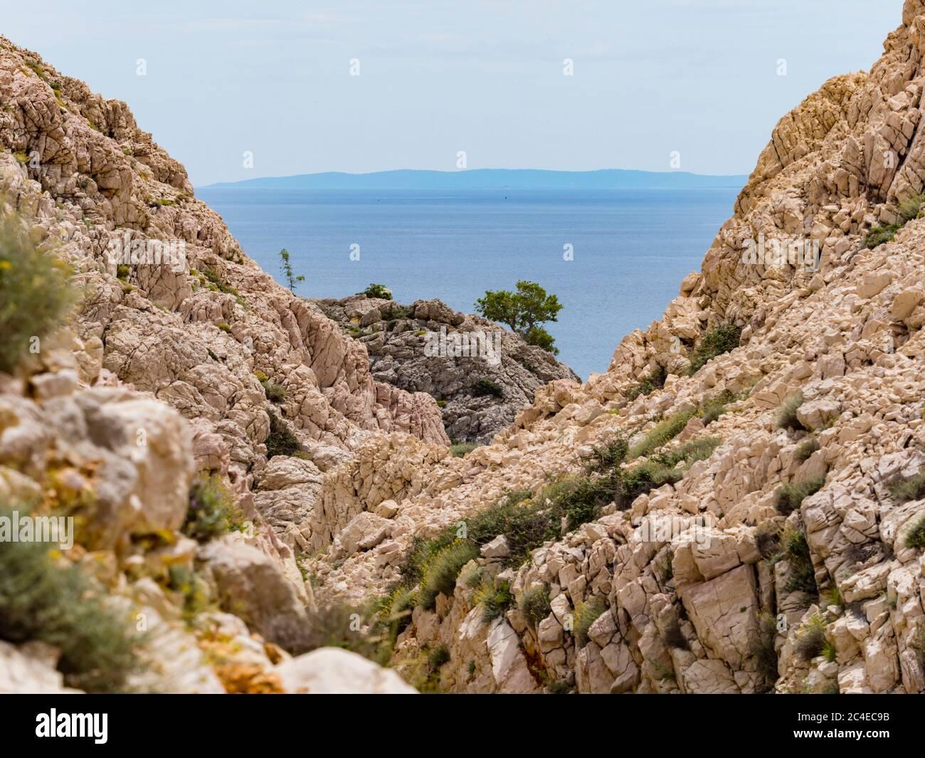 Stara Baska island Krk Croatia Europe Stock Photo