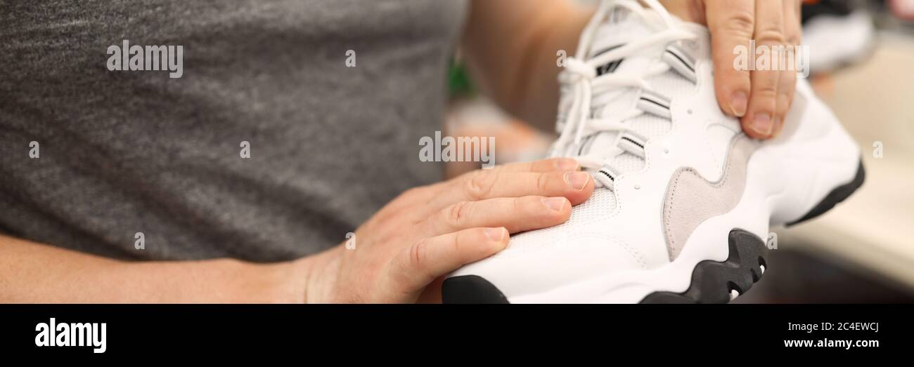 Good quality of trainers Stock Photo