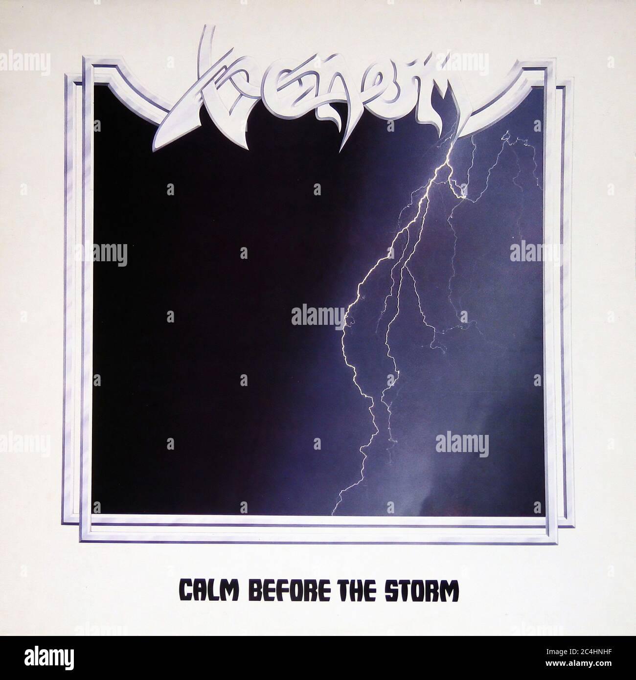 Venom Calm Before the Storm 12'' Vinyl Lp - Vintage Record Cover Stock Photo