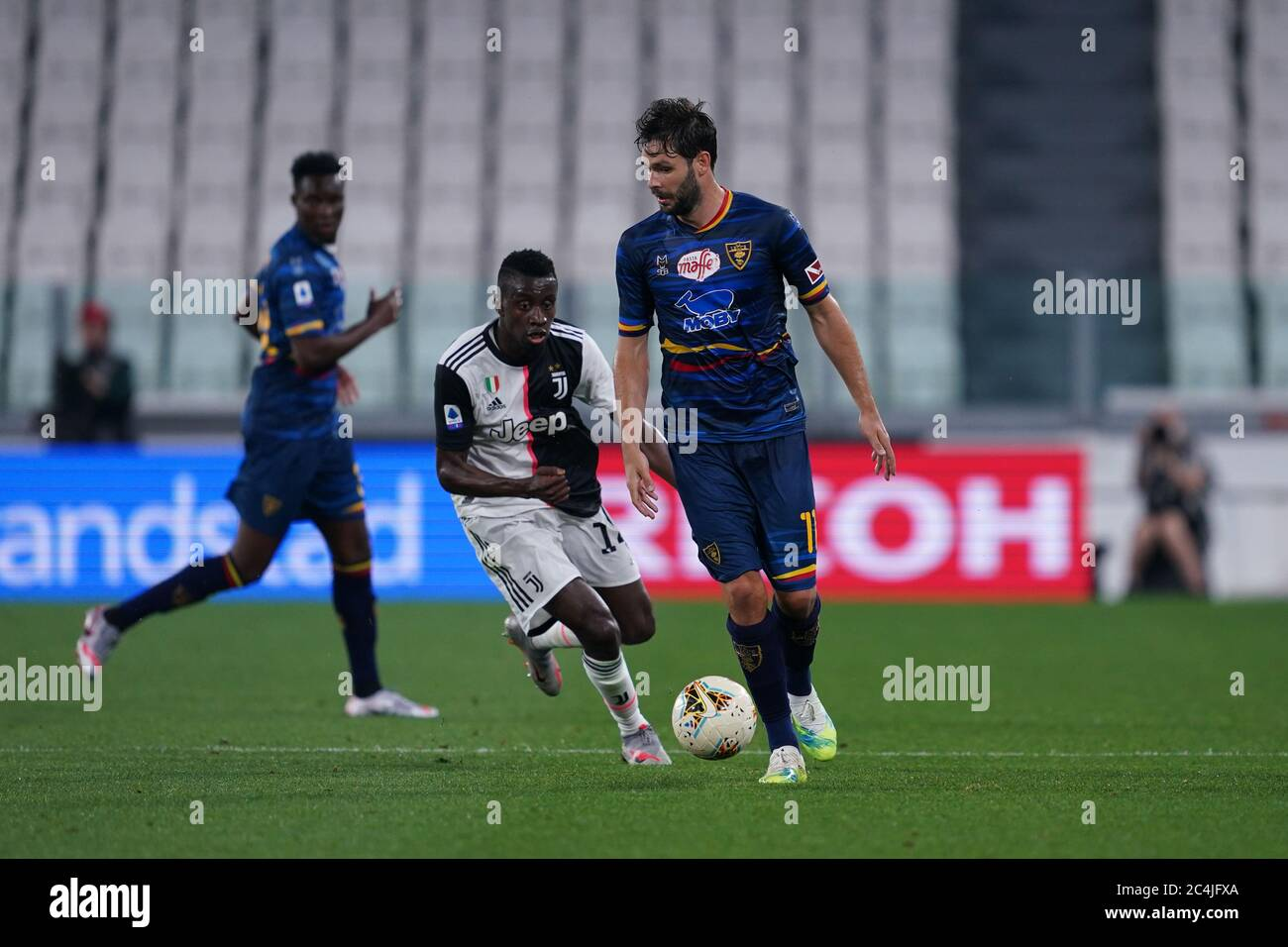 Torino Italy 26th June 2020 Italian Serie A Juventus Fc Vs Us Lecce Jevhen Sachov Of Us Lecce Stock Photo Alamy