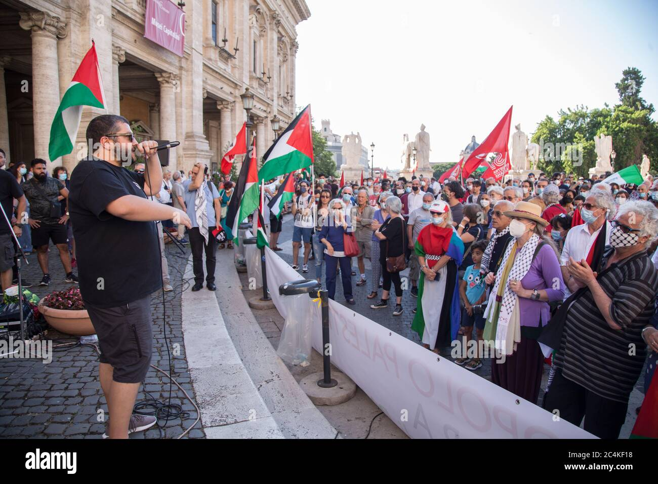 Roma, Italy. 27th June, 2020. (6/27/2020) Italian rapper Kento (Photo by Matteo Nardone/Pacific Press/Sipa USA) Credit: Sipa USA/Alamy Live News Stock Photo