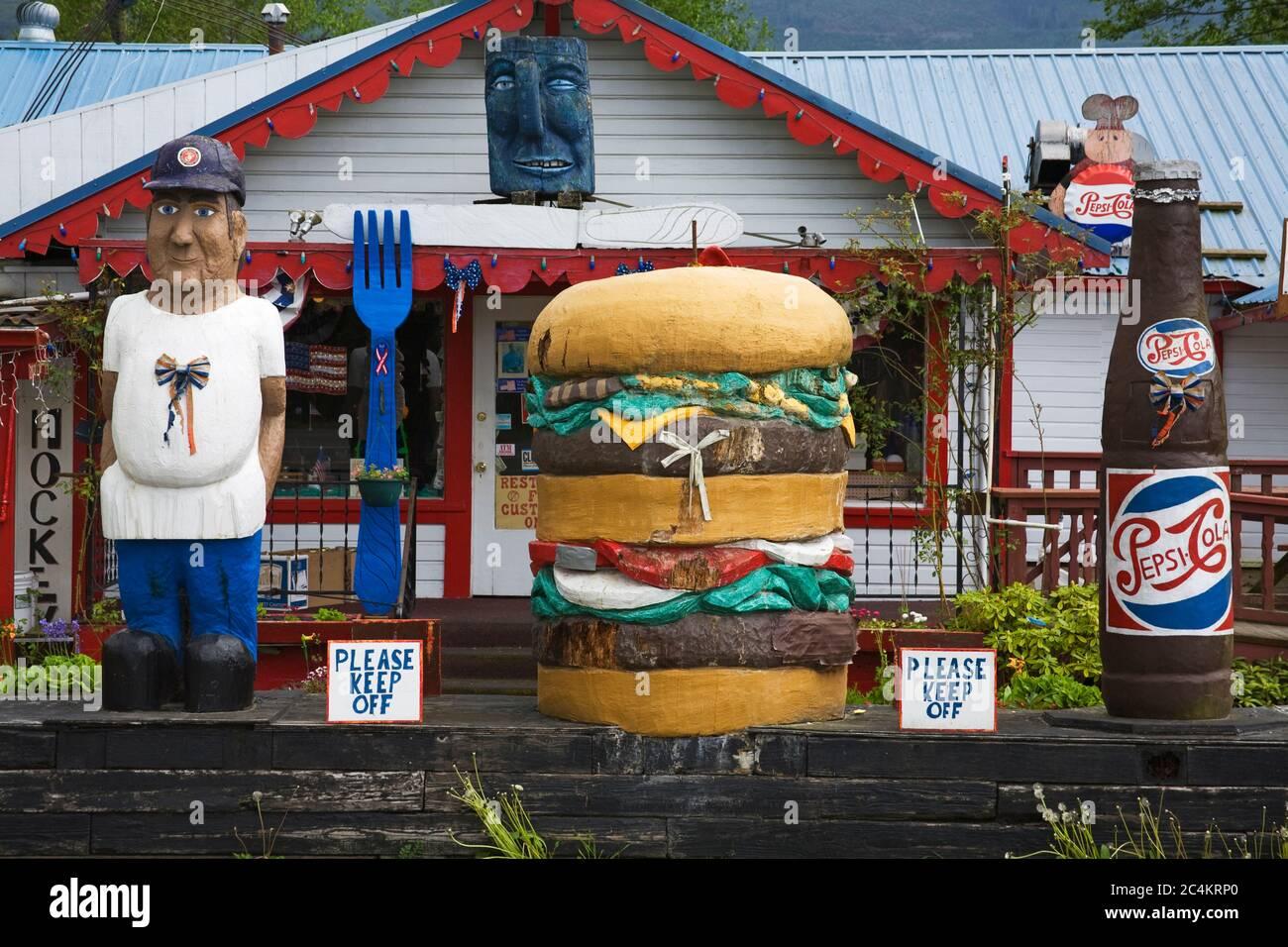Fat Smitty S Restaurant Discovery Bay Washington State Usa Stock Photo Alamy