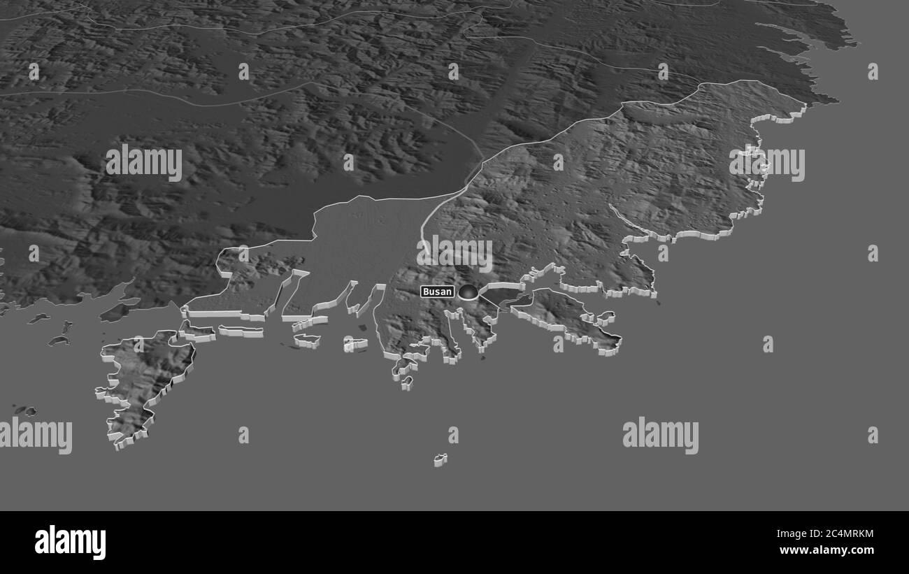 Of korea map busan south Decades of