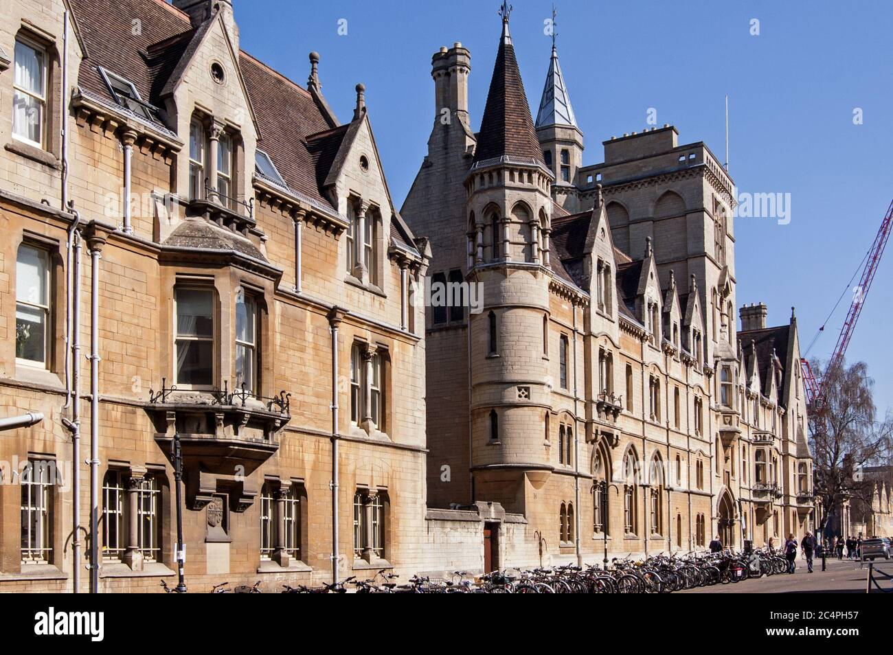 Oxford, UK - March 26, 2012:  View from Broad Street of Balliol College in the centre of Oxford, UK. Stock Photo