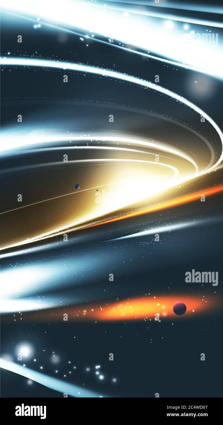 A Vector Illustration Of Supermassive Black Hole Abstract Universe Background Suitable For Phone Wallpaper Stock Vector Image Art Alamy