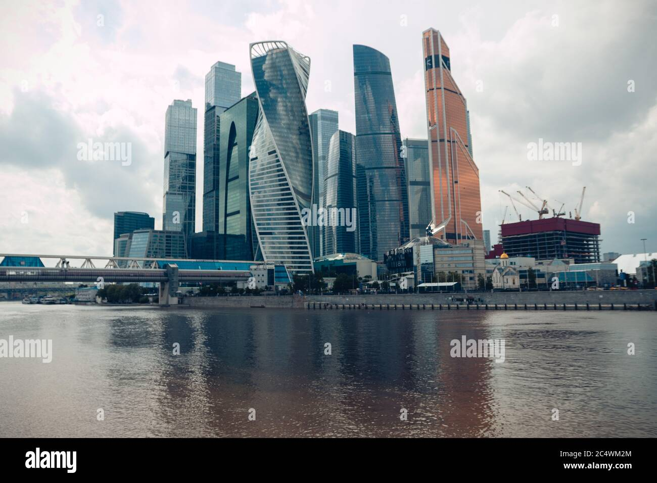 Scenic View Of The Skyscrapers Of The Moscow City International Business Center Moscow Skyline Moscow Russia June 2020 Stock Photo Alamy