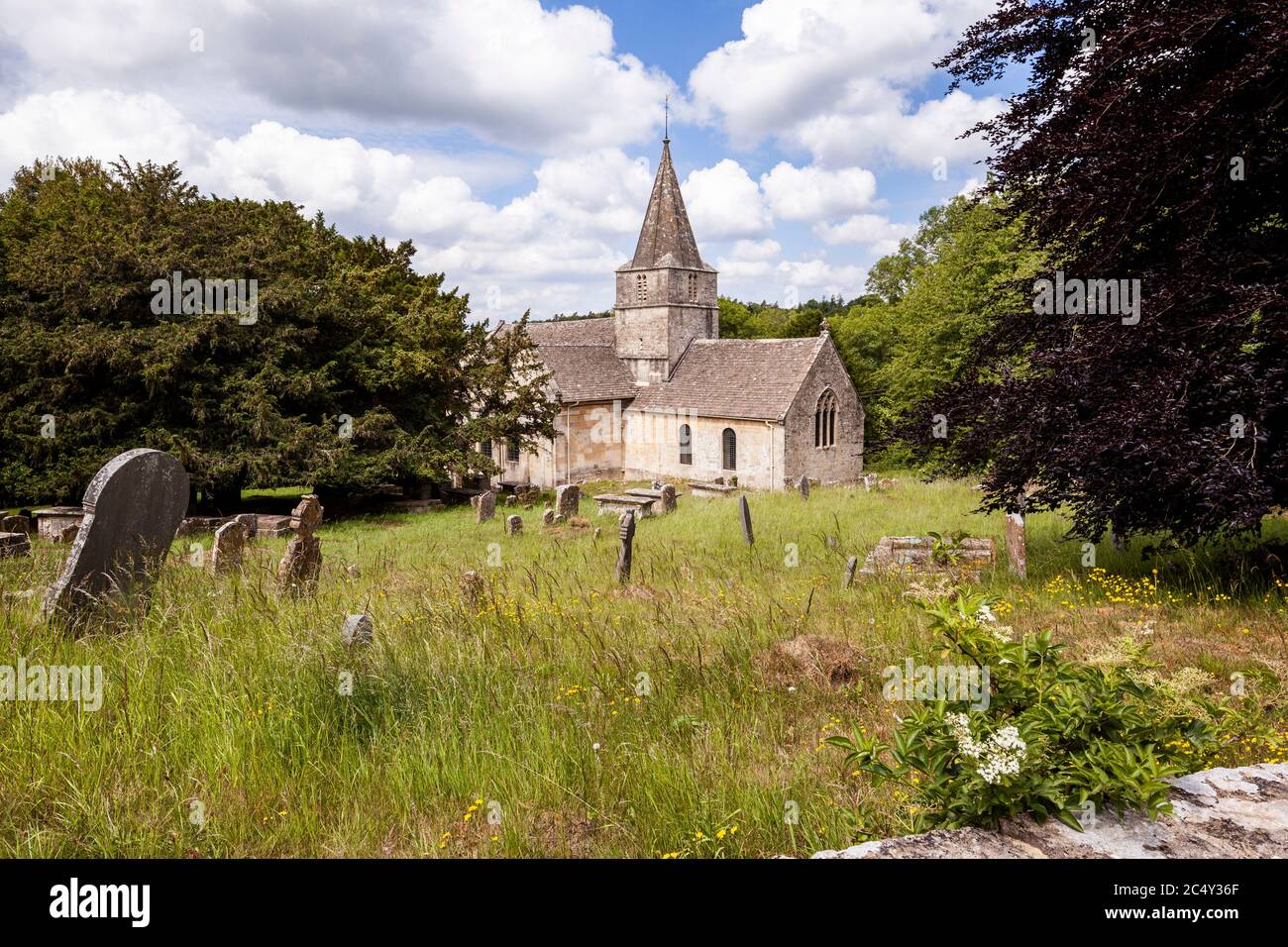 St Kenelms church in the Cotswold village of Sapperton, Gloucestershire UK Stock Photo