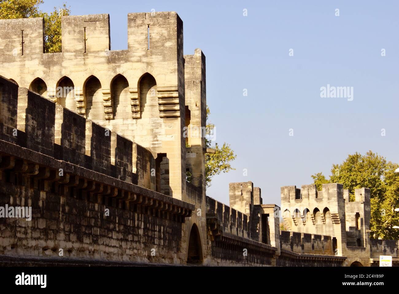 Pont D Avignon Provence Alpes Cote D Azur Papal Residence Papal Gardens Unesco World Heritage Town Medieval History Historic Stock Photo Alamy