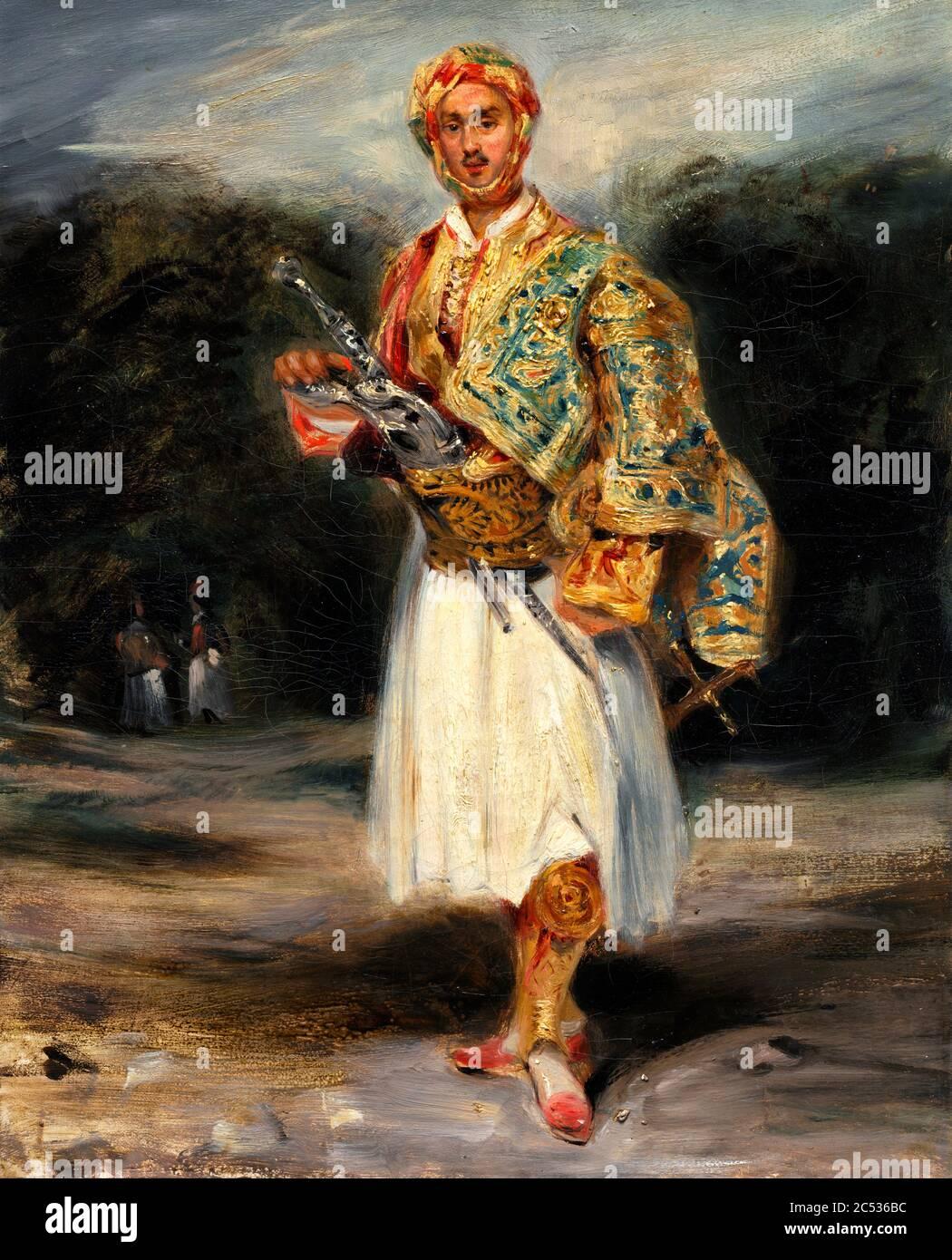 Count Demetrius de Palatiano in Suliot Costume by Eugene Delacroix Stock Photo