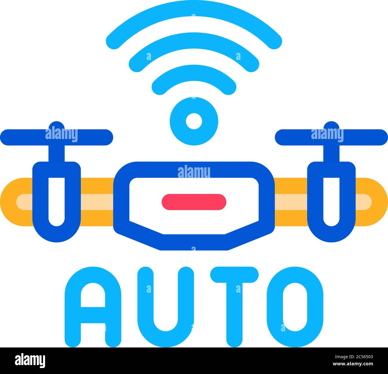 Drone Auto Return Home Icon Vector Outline Illustration Stock Vector Image Art Alamy