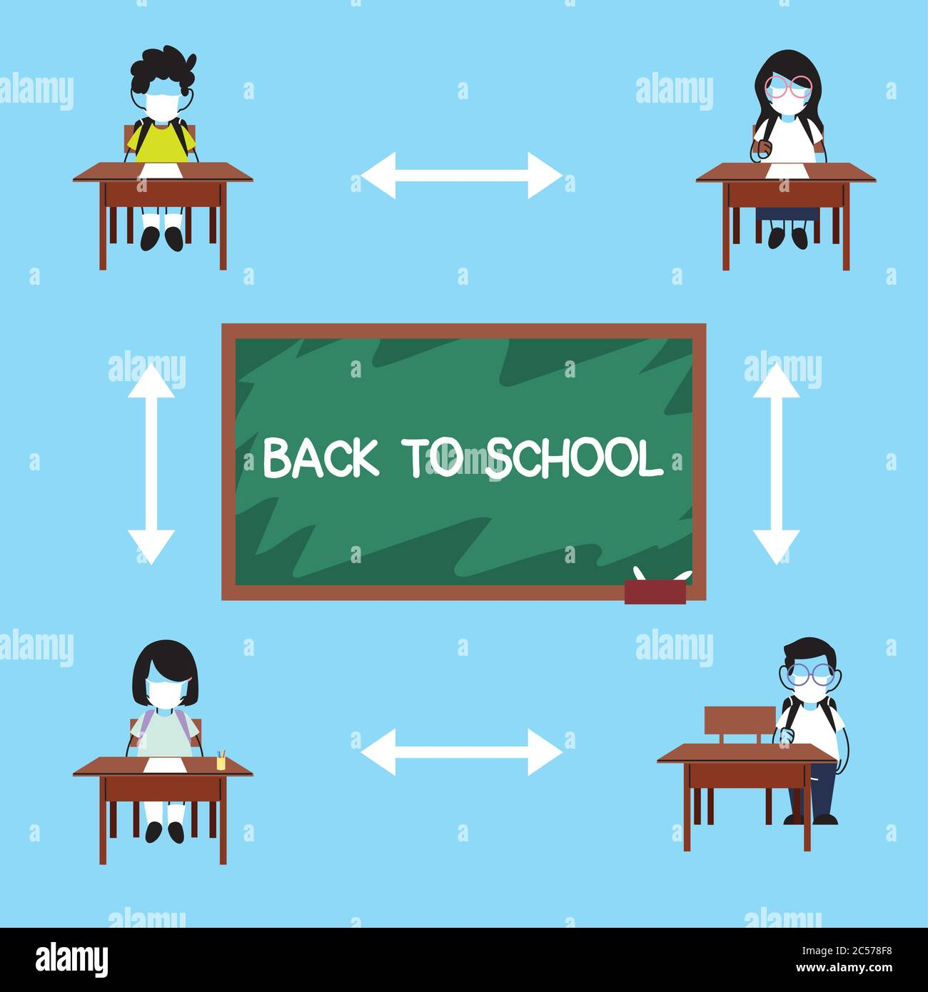 Vector Art - Teacher and students in classroom. Clipart Drawing gg88244378  - GoGraph