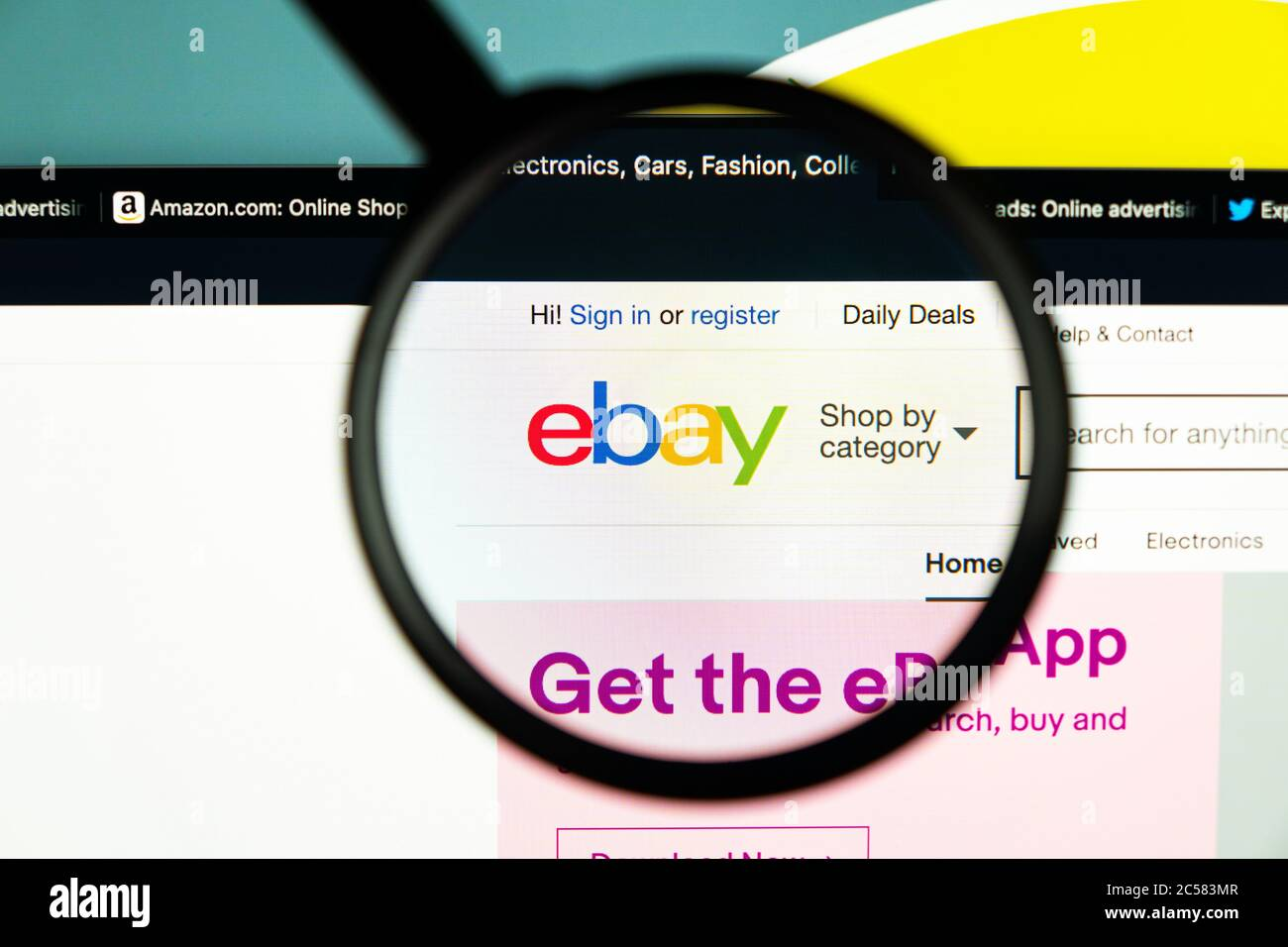 Sankt Petersburg Russia June 16 2020 Ebay Application Icon On Apple Imac Screen Under Magnifying Glass Ebay App Icon Ebay Com Is Largest Online Stock Photo Alamy