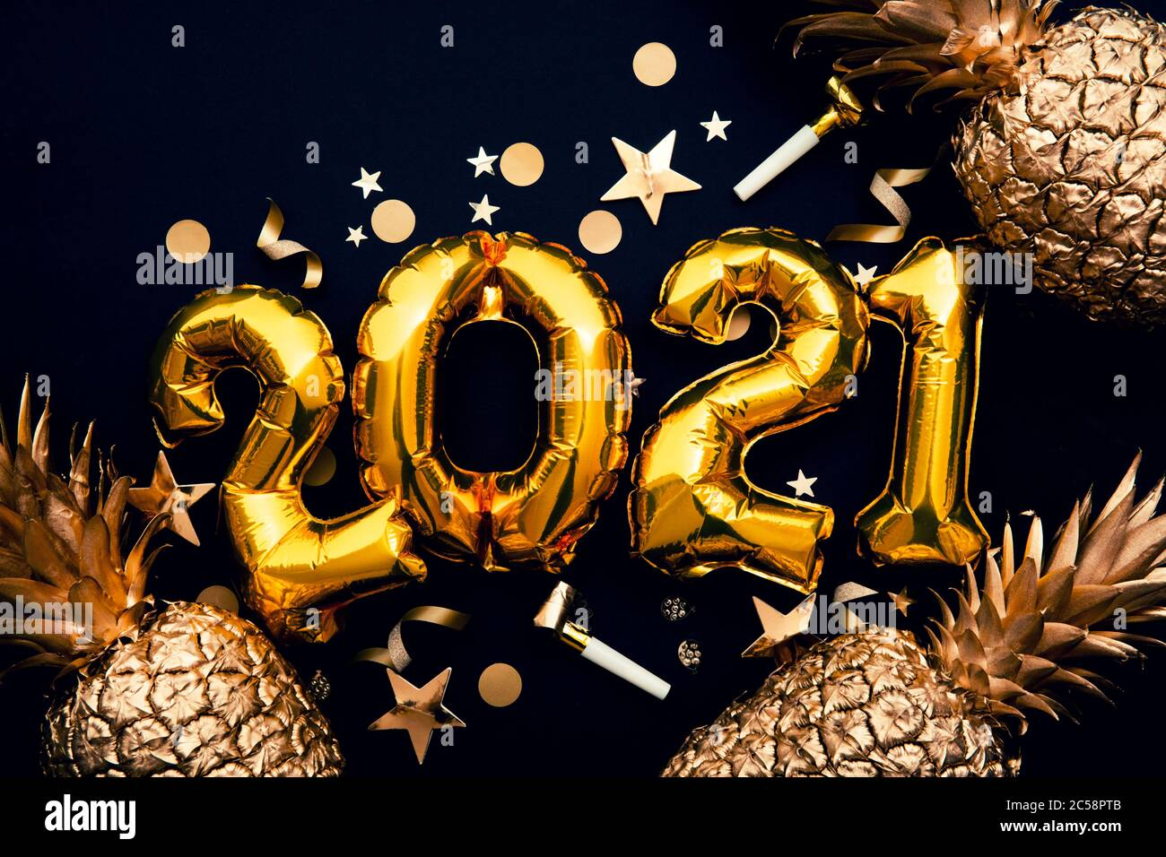 Happy New Year 2021 High Resolution Stock Photography And Images Alamy Happy new year 2021 is a website that provides you the best new year images, gifs, wishes, messages, quotes and much more. https www alamy com happy new year 2021 gold foil balloon and pineapple celebration background image364684555 html