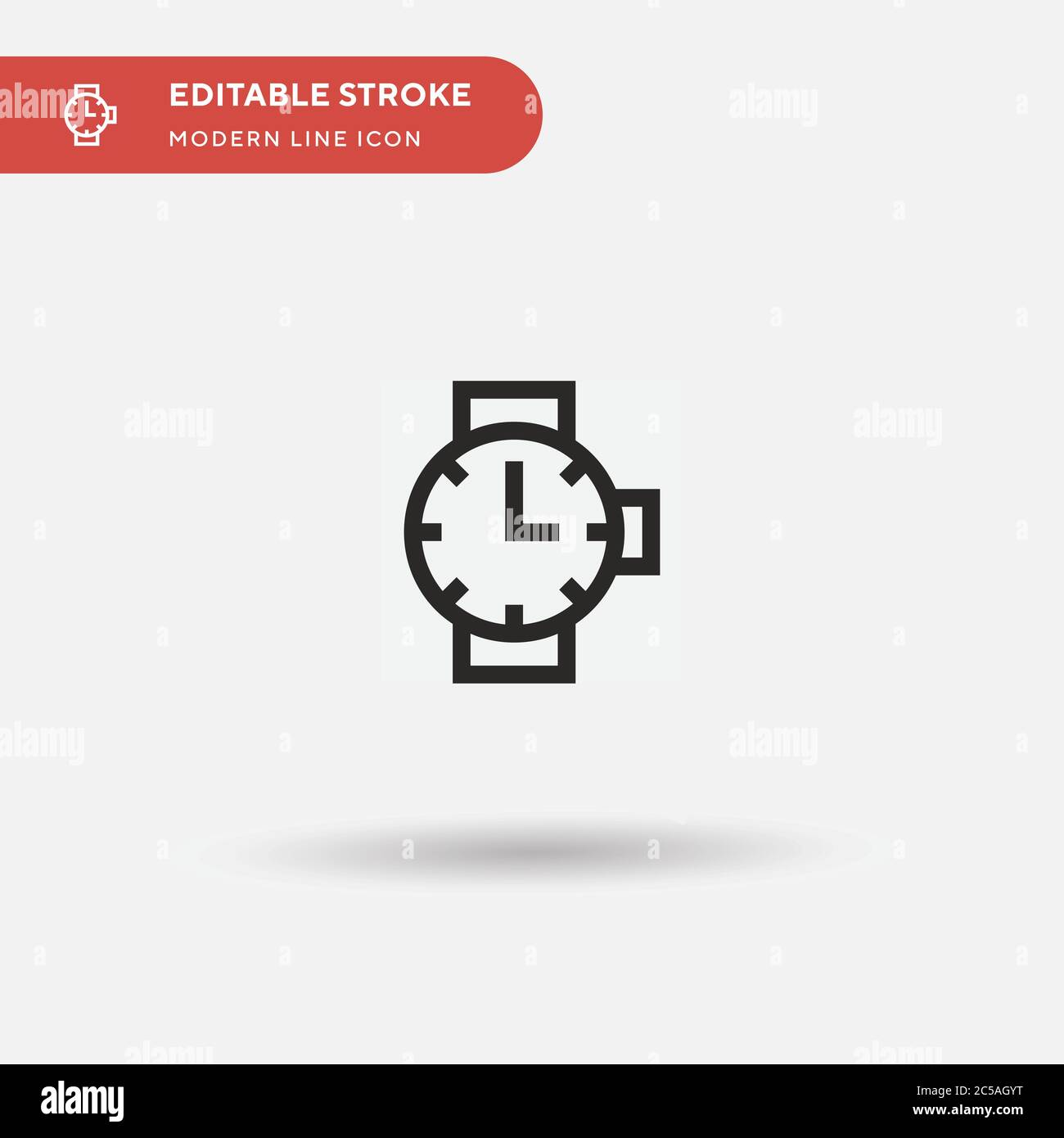 Watch Simple Vector Icon Illustration Symbol Design Template For Web Mobile Ui Element Perfect Color Modern Pictogram On Editable Stroke Watch Icons For Your Business Project Stock Vector Image Art