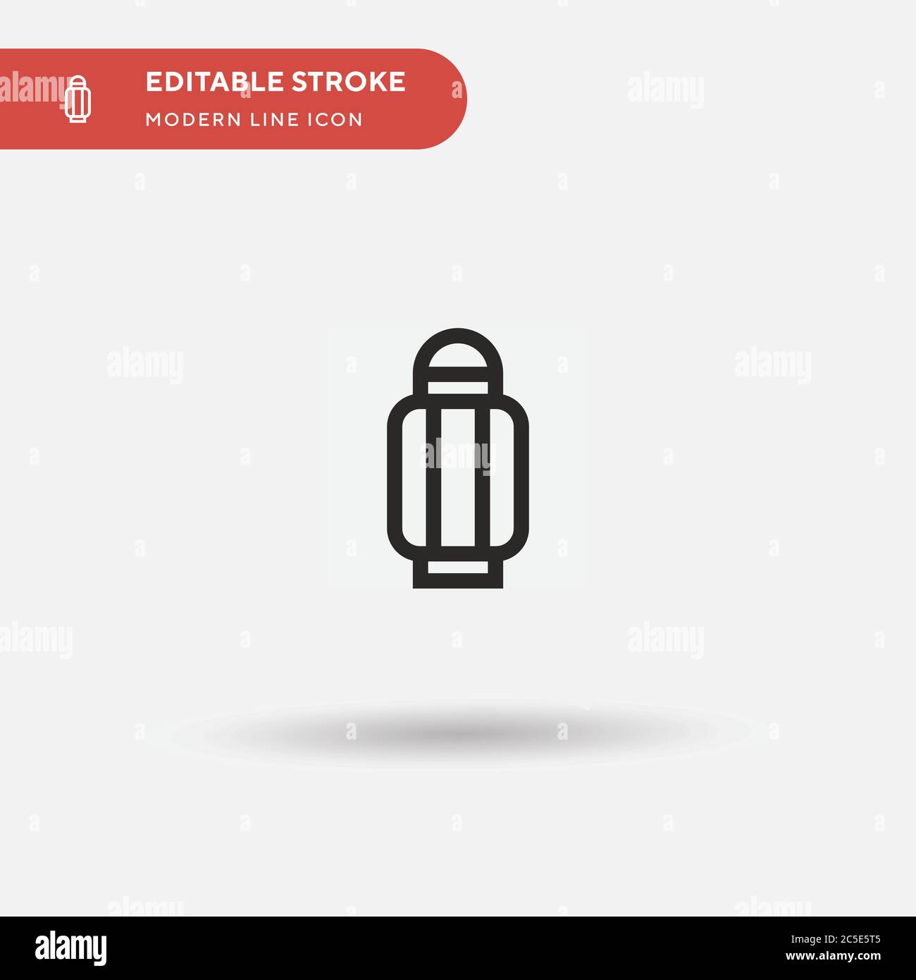 Paper Lantern Simple vector icon. Illustration symbol design template for web mobile UI element. Perfect color modern pictogram on editable stroke. Paper Lantern icons for your business project Stock Vector