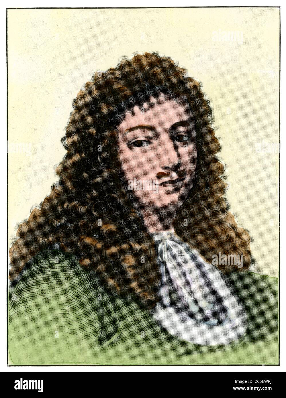Jean Baptiste Talon, administrator of New France. Hand-colored halftone of an illustration Stock Photo