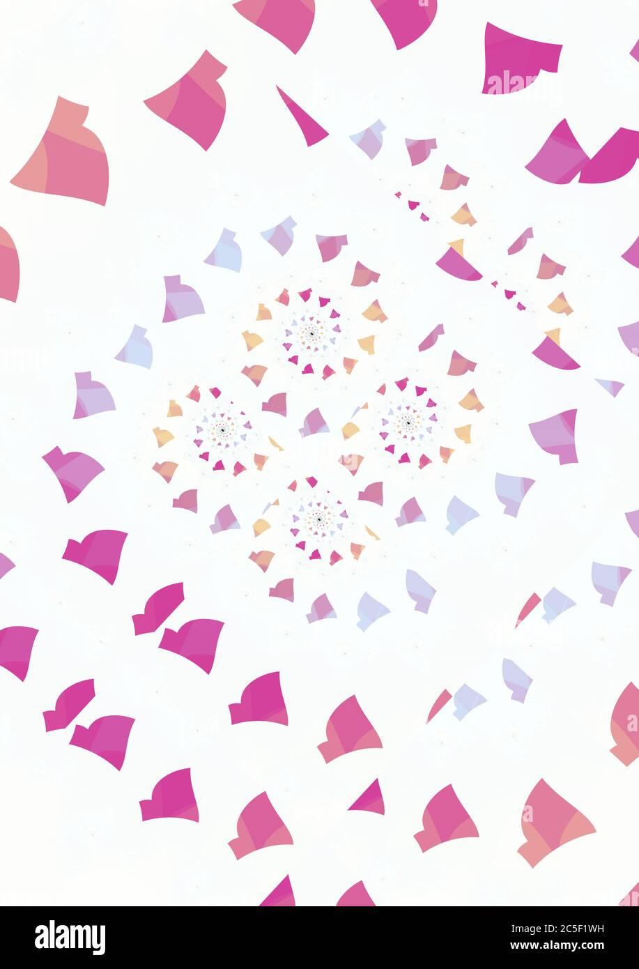 Spiralling Confetti Abstract Pattern Stock Photo