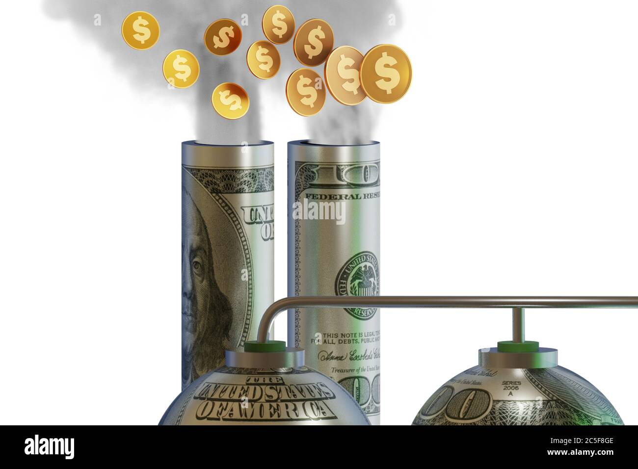 Concept of carbon tax in the ecology concept - 3d rendering Stock Photo