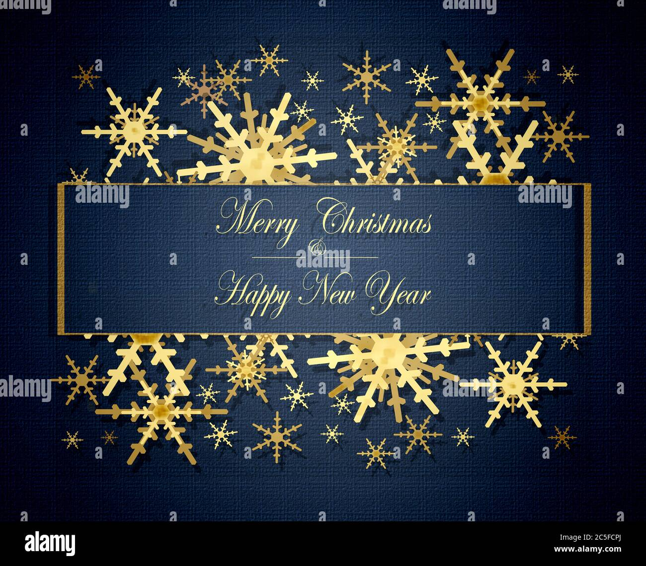 text merry christmas and happy new year illustration on dark blue dramatic background luxury christmas and 2021 new year background with shining golden snowflakes stock photo alamy text merry christmas and happy new year