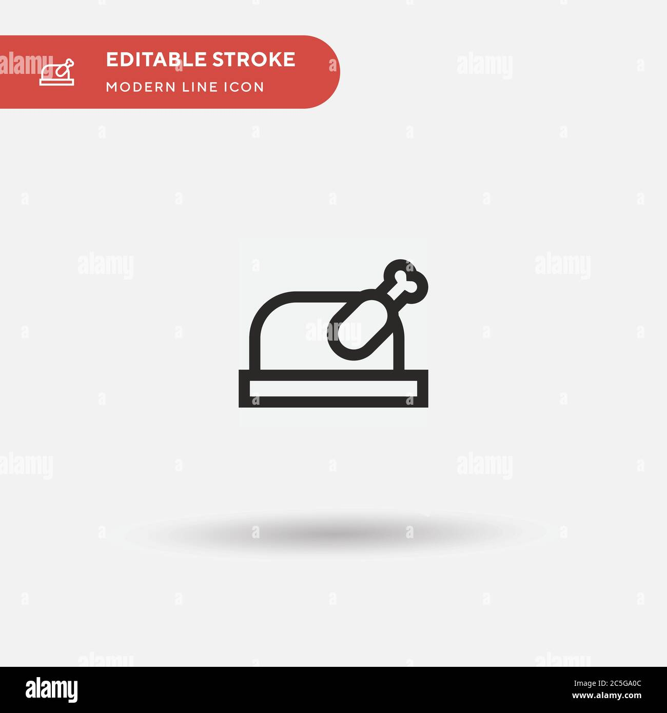Turkey Simple vector icon. Illustration symbol design template for web mobile UI element. Perfect color modern pictogram on editable stroke. Turkey icons for your business project Stock Vector