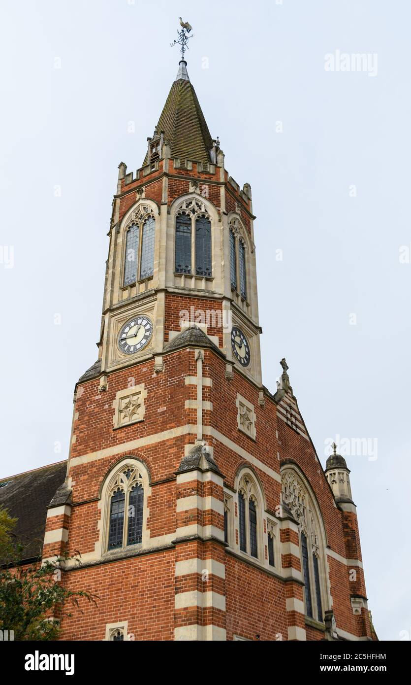 The Octagonal Clock tower of Christ Church Henley Stock Photo