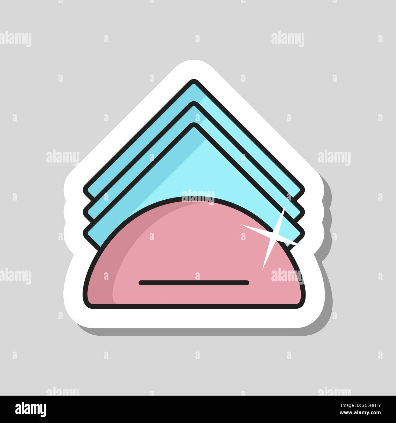 Napkins And Napkin Holder Vector Icon Kitchen Appliance Graph Symbol For Cooking Web Site Design Logo App Ui Stock Vector Image Art Alamy
