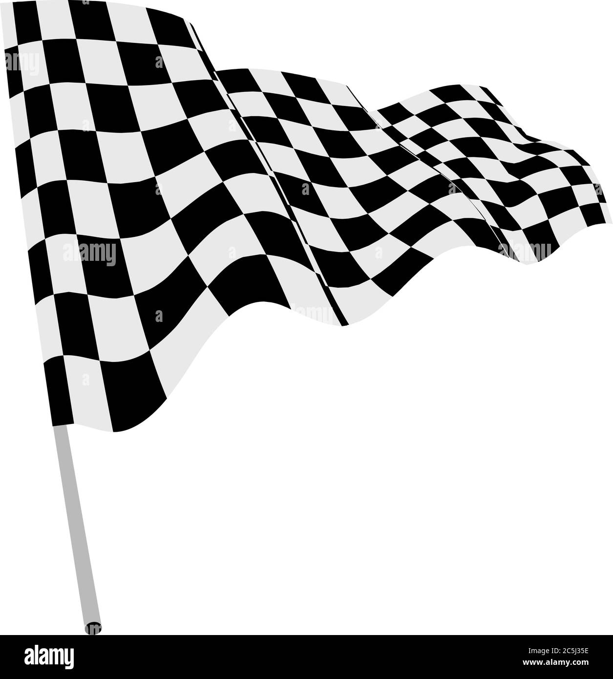 Checkered Flag Vector Illustration On White Background Stock Vector Image Art Alamy