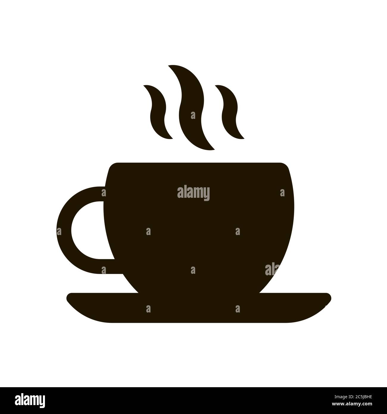 cup for coffee and tea icon on white background eps 10 vector illustration stock vector image art alamy alamy