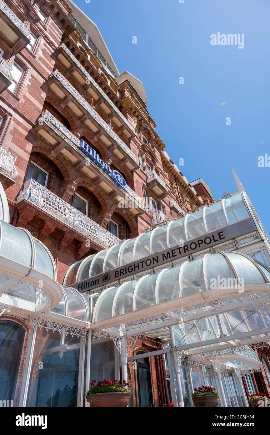 The Hilton Metropole Hotel on Brighton seafront UK Stock Photo