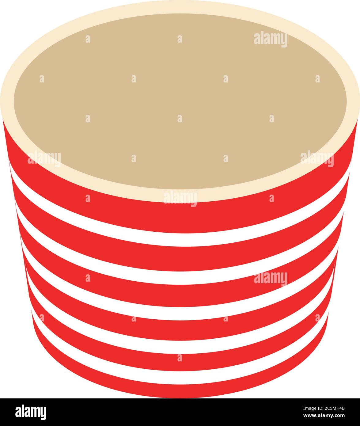 An Empty Red And White Striped Bucket Of Popcorn Isolated On The White Background Vector Illustration Cardboard Or Paper Bucket Cinema Snack And Stock Vector Image Art Alamy