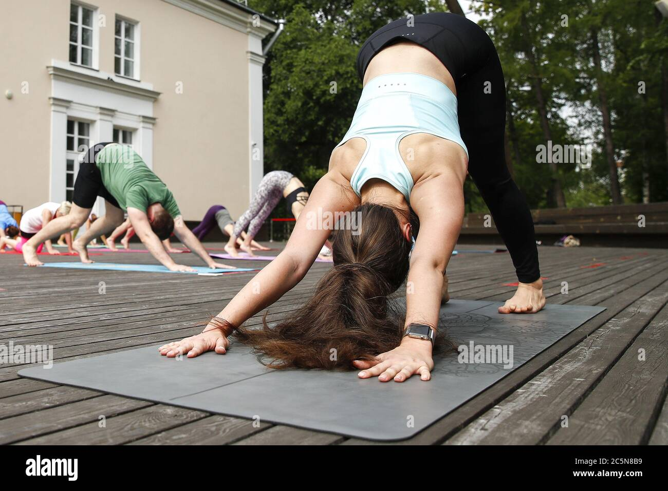 Moscow Russia 4th July 2020 Regina Koropat R Member Of The Yoga Alliance International And Certified