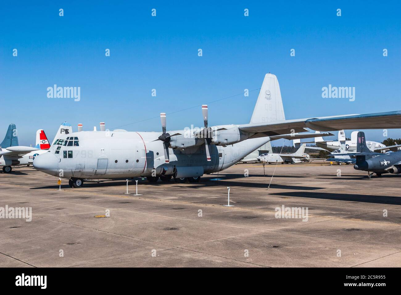 Lockheed Martin KC-130 at the Naval Air Museum at Pensacola, Florida - home of the Blue Angels. Stock Photo