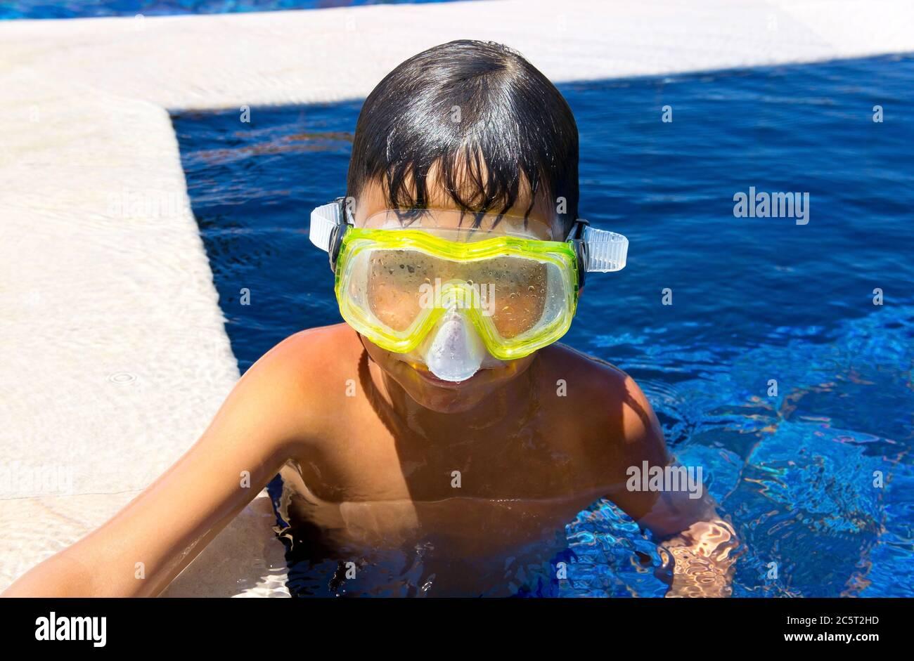 Swimming kids. Cartoon happy children in a... - Stock Illustration  [55079163] - PIXTA