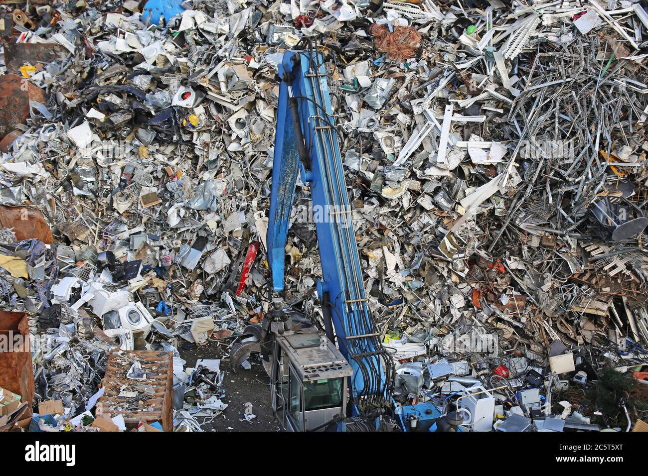 Symbolhaftes Bild von einem Schrottplatz (Mannheim) Stock Photo