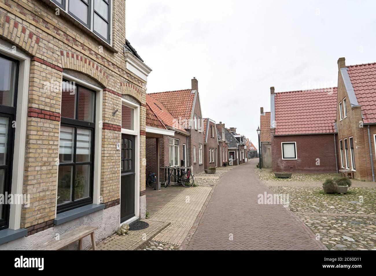 streets in Hindeloopen, Friesland, Netherlands. Stock Photo